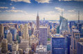 New york skyline panorama over manhattan from the top of the rocks observation deck Royalty Free Stock Photo