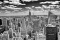 New york skyline panorama over manhattan from the top of the rocks observation deck Stock Images