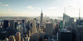 New york skyline by a shiny day Stock Photo