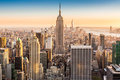 New York skyline on a sunny afternoon Royalty Free Stock Photo