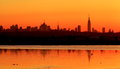 New York Skylines at Sunrise 4 Royalty Free Stock Photo