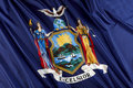 New York state flag Royalty Free Stock Photo