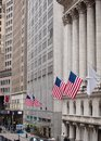 New york stock exchange on wall street city Stock Photography