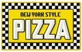 New York Style Pizza Sign Tin Embossed Royalty Free Stock Photo