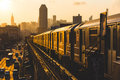 New York Subway Train Royalty Free Stock Photo