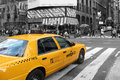 New york taxi cab a yellow in city usa Stock Photos