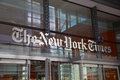 The new york times entrance usa august to building of daily newspaper it s one of most important and Royalty Free Stock Image