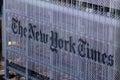The New york times Journal Building, street view Manhattan, New York city, USA Royalty Free Stock Photo