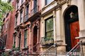 New york townhouse city united states old townhouses in turtle bay neighborhood in midtown manhattan Stock Photos