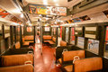 New york transit museum brooklyn september with vintage train Stock Photos