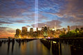 New York with Tribute in Light Royalty Free Stock Photo