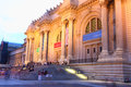 New york usa july metropolitan museum art night Royalty Free Stock Images