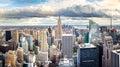 NEW YORK, USA - May 8, 2017: Manhattan skyline panoramic view wi