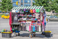 New York, USA- May 20, 2014. The Souvenir Vendor at Columbus Cir Royalty Free Stock Photo