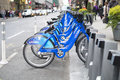 New york usa november rad av uthyrnings citybikes november Arkivfoton