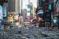 New york usa novembre durin de chantier de construction de times square Photos libres de droits