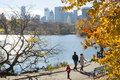 New york usa novembre horizon de manhattan avec le central park Photos stock