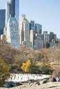 New york usa novembre horizon de manhattan avec le central park Photo libre de droits