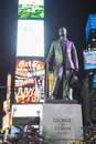 New york usa novembre statue de george m cohan en quelques périodes s Photo stock