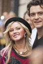 NEW-YORK, USA - OCTOBER 9- Orlando Bloom accompanied young blond