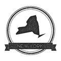 New York vector map stamp.