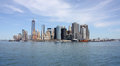New york view of manhattan downtown city u s a Stock Image