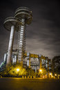 New york world s fair at night flushing meadows Stock Image