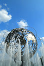 New york world s fair unisphere in flushing meadows park new york august on august it is the largest global structure Stock Images