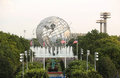 New york world s fair unisphere in flushing meadows park ny august on august it is the largest global structure Royalty Free Stock Photography