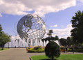 New york world s fair unisphere in flushing meadows park ny september on september it is the largest global Royalty Free Stock Images