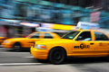 New York Yellow taxicab Royalty Free Stock Photo