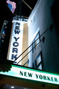 New Yorker hotel sign Royalty Free Stock Photos