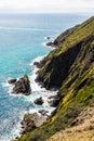 New Zealand coastline looking towards Spirits bay Royalty Free Stock Photo