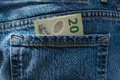 New zealand dollars in jeans pocket detail of Royalty Free Stock Photo