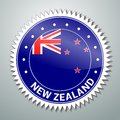 New zealand flag label vector series Royalty Free Stock Photo