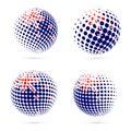 New Zealand halftone flag set patriotic vector.