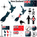New Zealand map Stock Photo