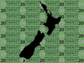 New Zealand map and currency Stock Images