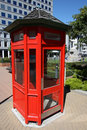 New Zealand phone box Stock Images