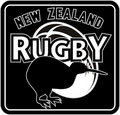 New zealand rugby kiwi bird Royalty Free Stock Image