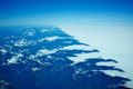 New zeland alps an aerial view of the southern Stock Photography