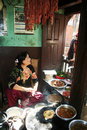 Newari restaurant Stock Photo