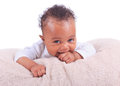 Newborn baby african american Stock Image