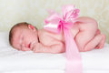 Newborn baby as a gift Stock Photography
