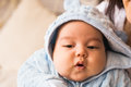 Newborn baby boy asian. Mixed race infant child Royalty Free Stock Photo