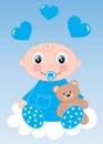 Newborn baby boy or baby shower Royalty Free Stock Photo