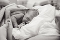 Newborn baby boy after birth Royalty Free Stock Photo