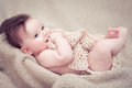 Newborn baby boy smiling Royalty Free Stock Photo