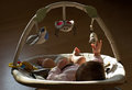 Newborn Baby Girl Playing In A...