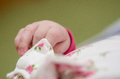 Newborn baby girl's hand Royalty Free Stock Image